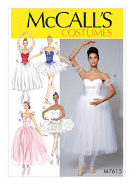 Mccalls Costume Patterns Amazing McCall's 48 Misses' Ballet Costumes With Fitted Boned Bodice And