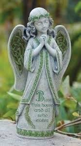 garden angel statues. Roman Celtic Garden Collection \u0026quot;Bless This House And All Who Enter\u0026quot; Irish Angel Statues