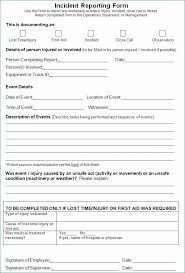 Employee Incident Report Form Doc Creative Incident Report Template