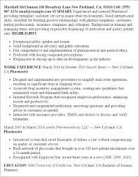 Resume Templates: Pharmacist