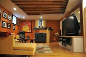 Rustic Basement Ideas Bedroom Unfinished Ceiling Delectable Inspiration New Lighting For With