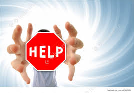 Man Grabbing A Help Sign Stock Picture I1562572 At Featurepics