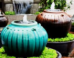 nice ceramic outdoor water fountains 11 amazing water fountains made from planters garden club