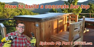 how to build a patio bar with a concrete counter top episode 15 part 1 you