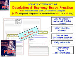 quality educational resources teaching resources tes devolution and economy essay practice citizenship gcse 9 1