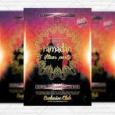 ramadan iftaar party premium flyer template facebook cover ramadan iftaar party premium flyer template facebook cover