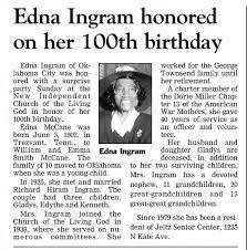 Obituary for Edna Ingram - Newspapers.com