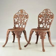 cast iron chairs outdoor rocking