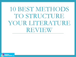 Literature Review Structure   YouTube