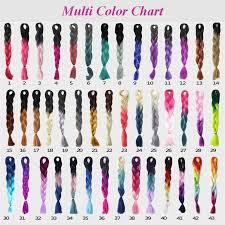 Ombre Braiding Hair Color Chart Multiful Color Chart In 2019 Kanekalon Braiding Hair