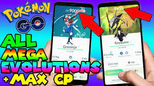 ALL MEGA EVOLUTIONS MAX CP IN POKEMON GO - YouTube