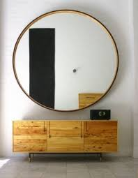 Round large mirrors