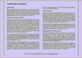 9 Lebenslauf Ausformuliert Resignation Format