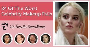 contouring fail 24 of the worst celebrity makeup fails