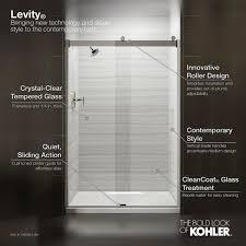 semi frameless sliding shower door
