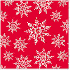 Snowflakes On Red Christmas Wrapping Paper Roll 45 Sq Ft