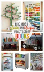 ... the most clever and unique ways to store children's books- Lots of fun  ideas from