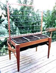 outdoor planter boxes with trellis raised box garden planters trel lattice planter box garden with trellis
