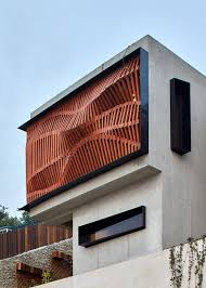 from the architects the brise soleil house is a compact 2 bedroom 173sqm dwelling situated at the top of a steep west facing block near port moresby