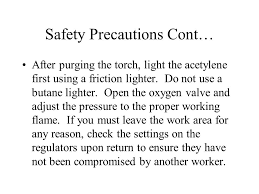 Oxy Acetylene Settings Chart Oxygen And Acetylene Safety Ppt Video Online Download