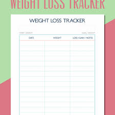 Fun Weight Loss Chart Fun Printable Weight Loss Tracker Archives Konoplja Co New