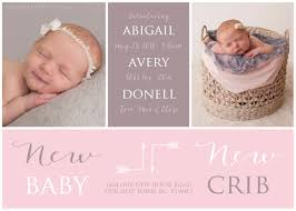 newborn baby announcement sample moving birth announcement new baby new crib photo baby