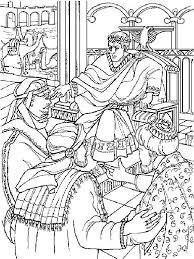 Kleurplaat Bijbel Kerstverhaal De Drie Koningen Bij Herodus The