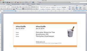 Create Tickets In Word Raffle Ticket Creator Create Numbered Raffle Tickets In
