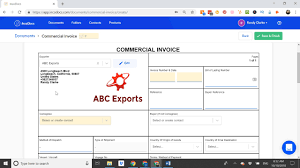 Create A Commercial Invoice Create Commercial Invoice Document For Import Export Incodocs