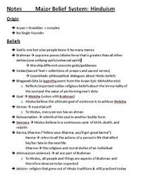 Jainism And Hinduism Venn Diagram Hinduism Review Notes Comparing Contrasting To Buddhism