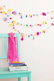 best diy room decor ideas for teens and teenagers diy pom pom tassel garland