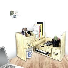 wood desk organizer adjule wooden desktop office supplies storage shelf rack with cubby holes drawer