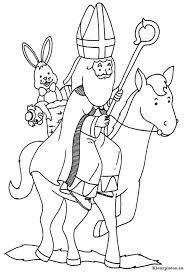 Sinterklaas Op Zijn Paard Amerigo Kleurplaat