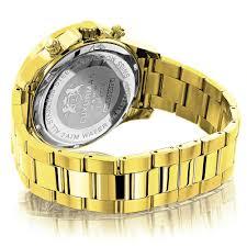 luxurman liberty yellow gold plated mens diamond watch swiss mvt 0 2ct luxurman liberty yellow gold plated mens diamond watch swiss mvt 0 2ct back