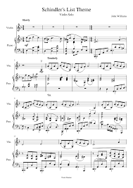 Schindler's List Theme sheet music download free in PDF or MIDI
