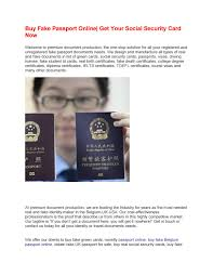 Passport Fake Buy Security Your By Online Social Get Now Smith John Issuu Card -