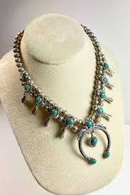 squash blossom navajo necklace pearl