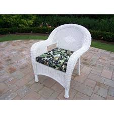 white wicker outdoor lounge chair with black floral cushion white wicker patio furniture r53 wicker