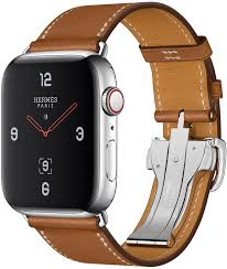 apple watch hermes series 4 gps cellular 44mm stainless steel case with fauve barenia leather