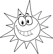 Small Picture coloring page of cartoon character smiling sun Coloring Point