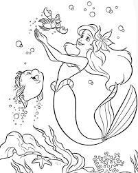 Ariel Little Mermaid Coloring Pages Printables Printables
