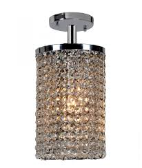 prism collection 1 light chrome finish crystal string semi flush mount ceiling light 6 d