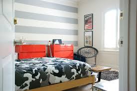 boys room striped wall idea