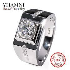 YHAMNI, классическое мужское <b>кольцо</b>, набор, 6 мм, 1 карат, CZ ...