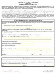 Affidavit Form In Pdf Free Louisiana Authorized NonAdmitted Affidavit Form PDF Template 15