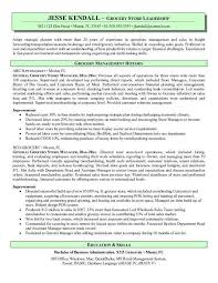 Supermarket Cv Example Grocery Store Manager Resume Diff