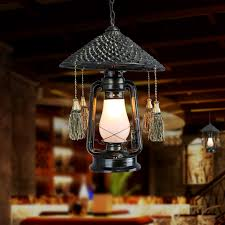 get ations retro kerosene lantern chandelier chandelier dining restaurant teahouse personality chinese wind bamboo rattan lamps lighting