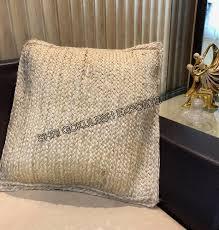 Jute Braid Pillow Cover