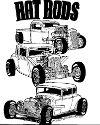 Small Picture Rat Rod Coloring Page Free Download
