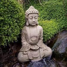 karma buddha reconstituted stone garden